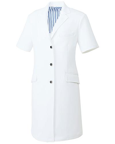 UN-0086 ユナイト レディスドクターコート(長袖)
