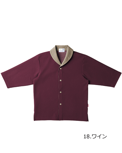 CR840 前開きニットシャツ キラク(KIRAKU)