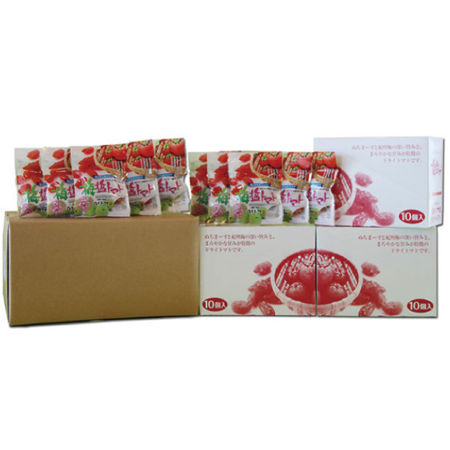 【送料無料】ドライ梅塩トマトミニ(30g×30袋)ケース