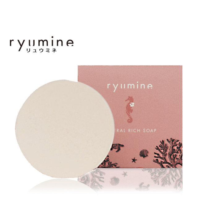 ryumin石けんは石油、鉱物油不使用のお肌に優しい洗顔石けんです。リュウミネ石けん