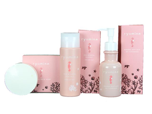 春の美容始めに、海から生まれた美容品リュウミネシリーズのセットです。