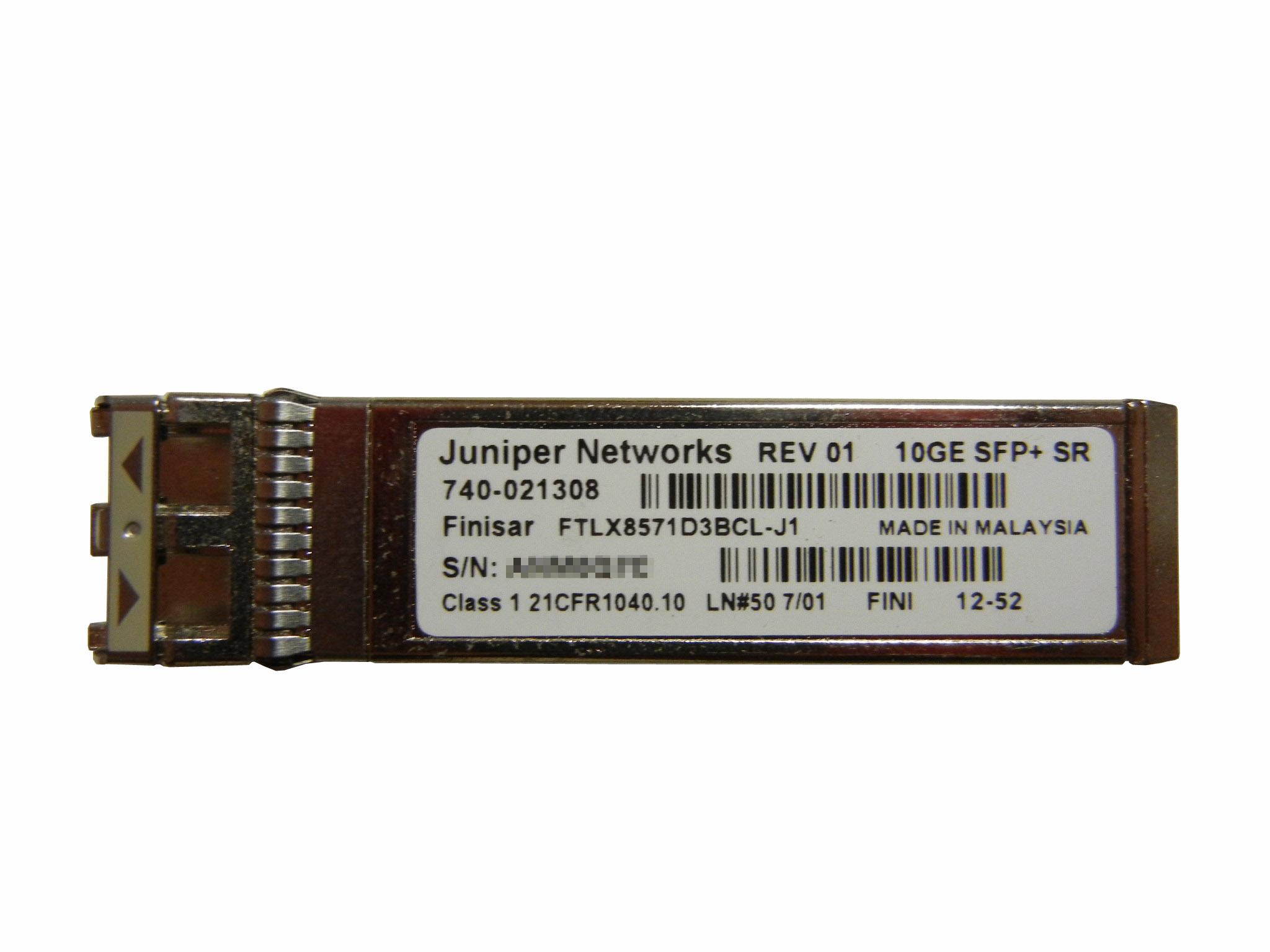 【中古】Juniper 10G SFP モジュール 10GE SFP+ SR 740-021308