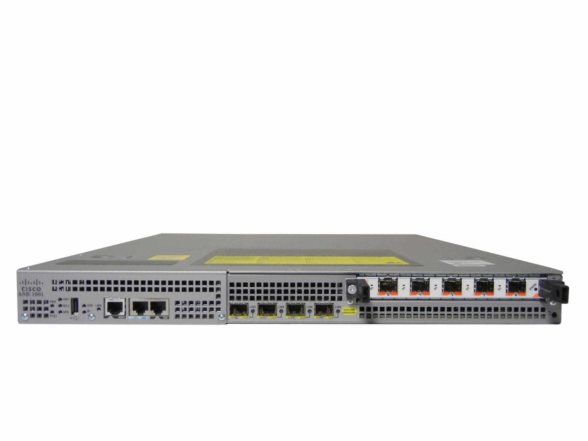 【中古】Cisco ASR 1001 アグリゲーションサービスルータ SPA-5X1GE-V2モジュール付き (ipbase)