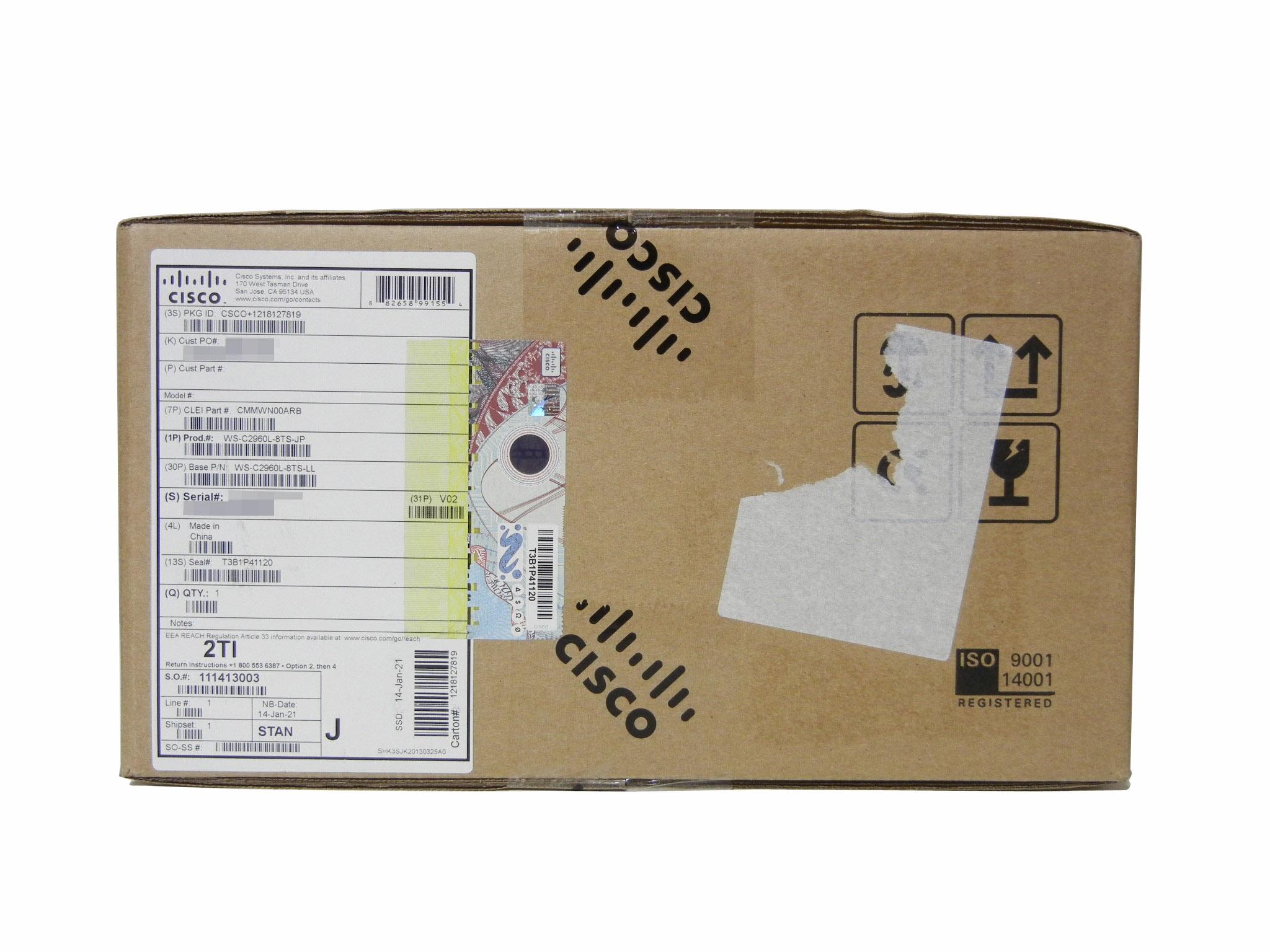 【新品】Cisco  Catalyst C2960L-8TS-LL (WS-C2960L-8TS-LL)