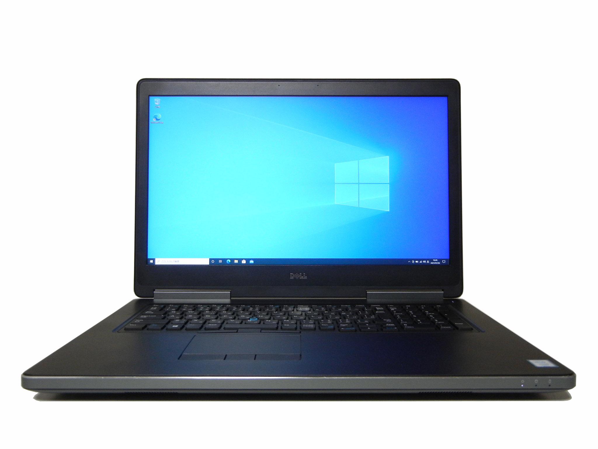 【中古】DELL Precision 7710 Xeon E3-1535Mv5 メモリ32GB搭載 SSD 512GB Quadro M3000M Win10Pro