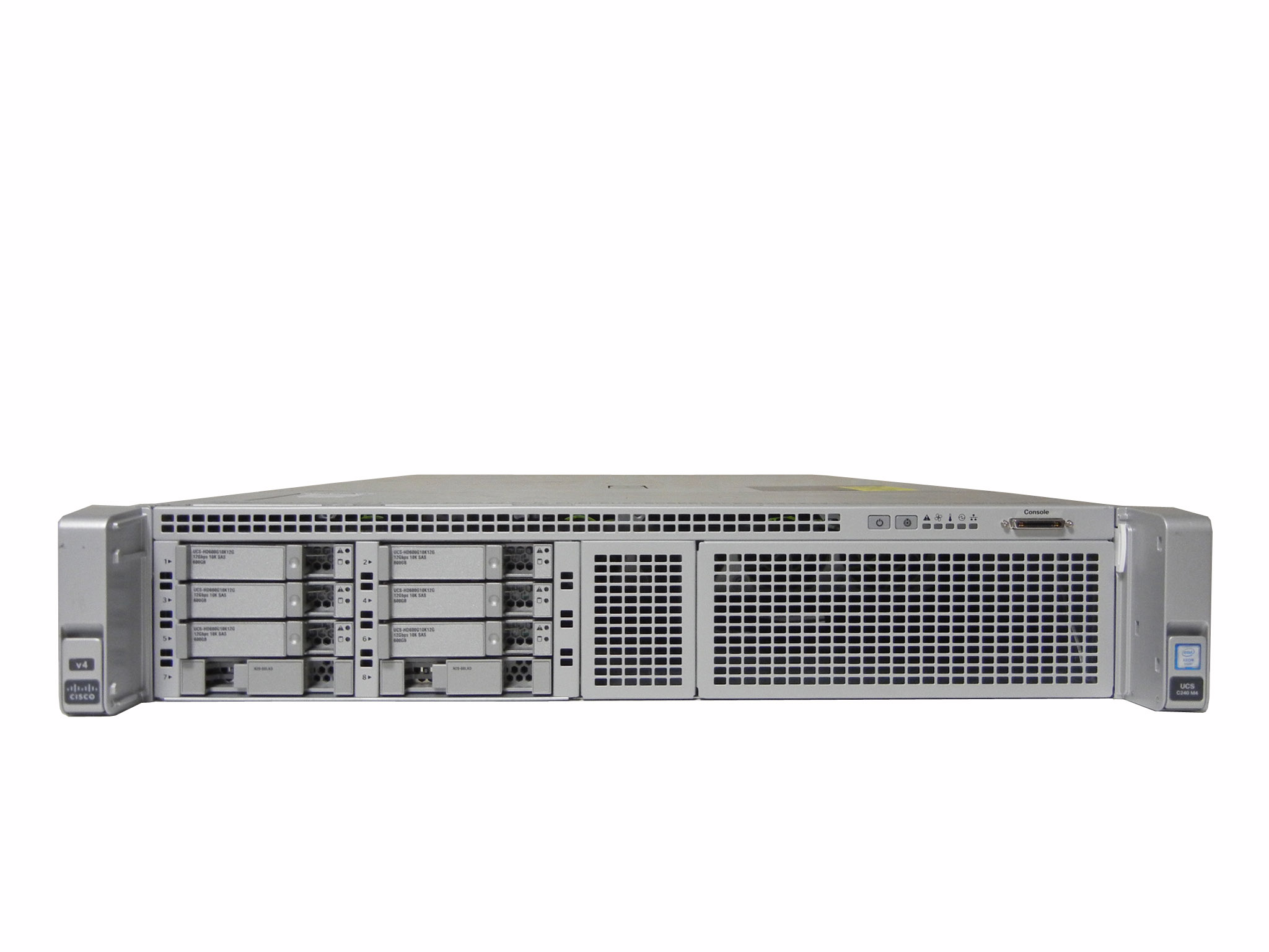 【中古】 Cisco UCS C240 M4 4C Xeon E5-2623 V4 2.60GHz 1CPU/ 24GB / 300GB x6 SAS 2.5in 10K / 電源 x2