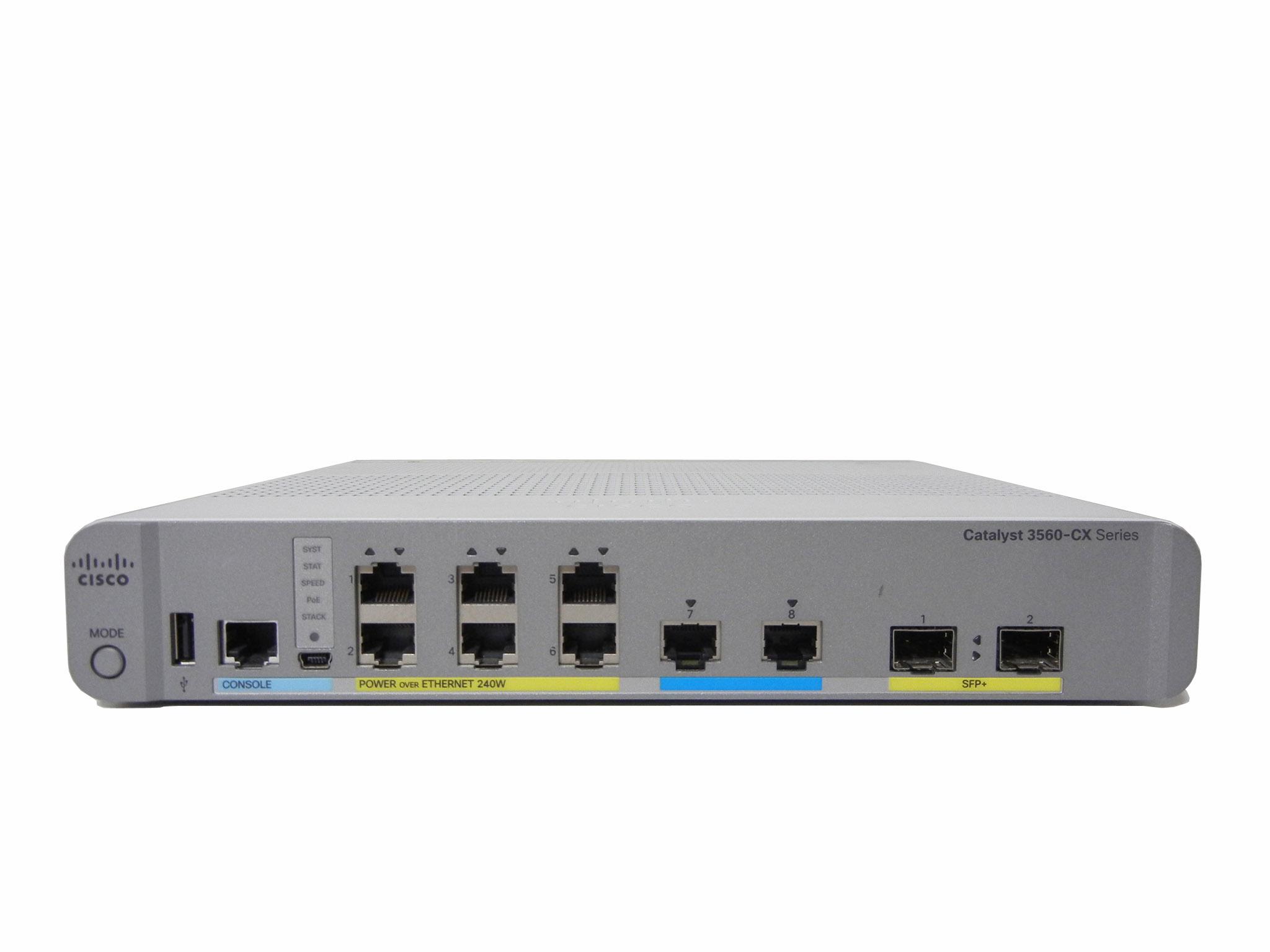 【中古】Cisco Catalyst 3560CX-8XPD-S (WS-C3560CX-8XPD-S)