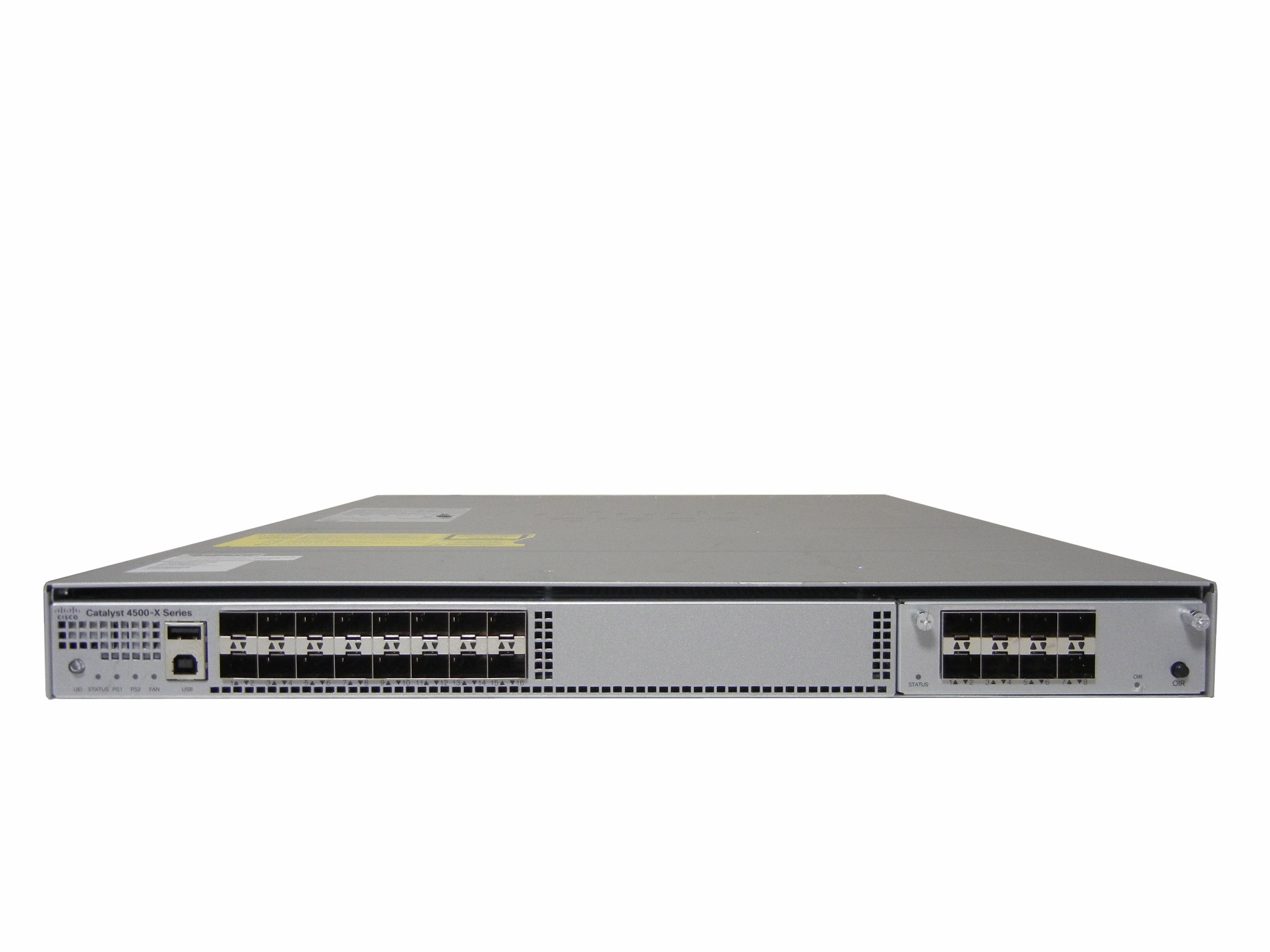 【中古】Cisco  Catalyst 4500X-16SFP+ (WS-C4500X-16SFP+) C4KX-NM-8SFP+モジュール付き 電源二重仕様