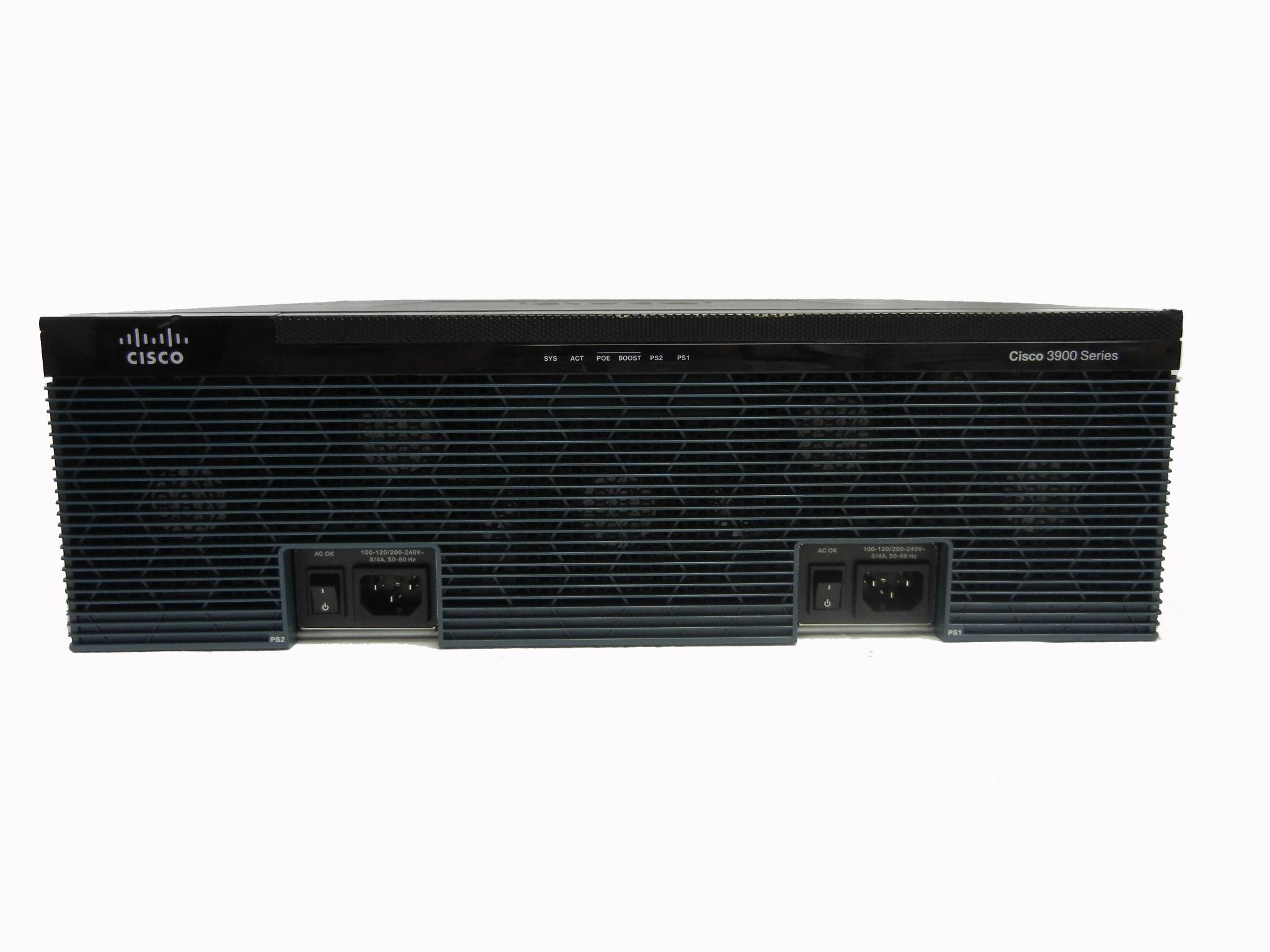 【中古】Cisco 3925/K9 サービス統合型ルータ (冗長電源オプション付き)