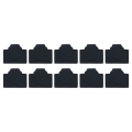 vitalcrew RJ45コネクタダスト保護キャップ ゴム製 黒 10個入りパック  【CAP-RJ45RB-BK010】