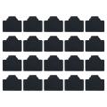 vitalcrew RJ45コネクタダスト保護キャップ ゴム製 黒 20個入りパック 【CAP-RJ45RB-BK020】