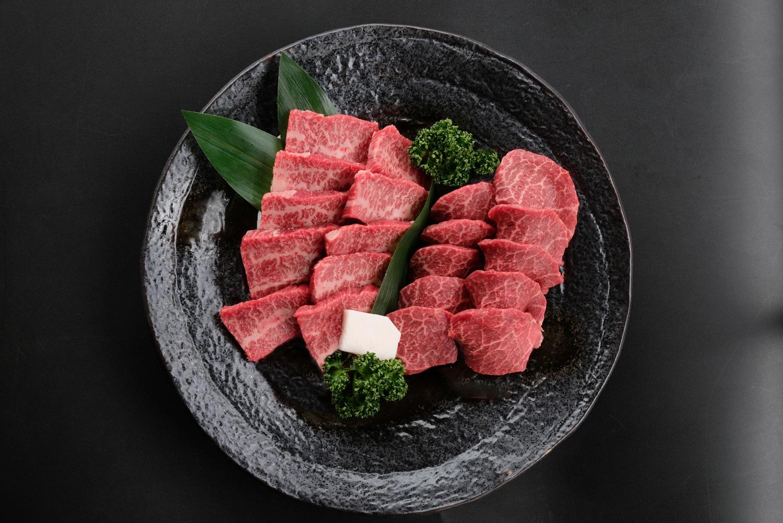 米沢牛バラ・赤身焼肉用 各250g 送料無料 化粧箱入