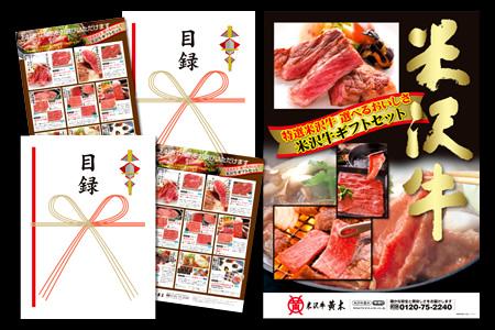 送料無料 米沢牛 景品目録パネルセット (1万円コース 2セット)
