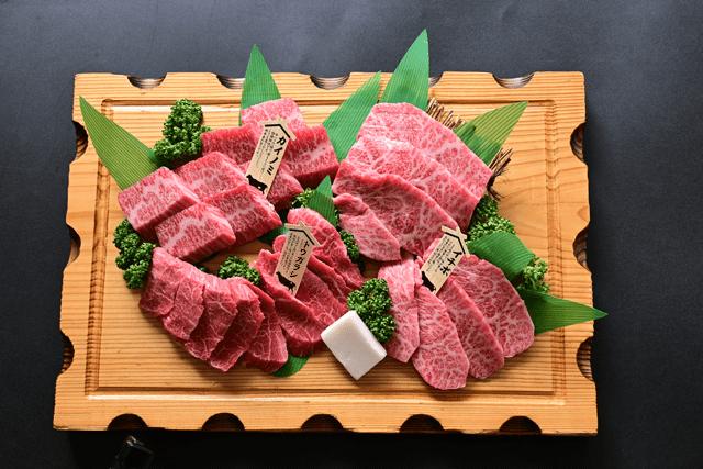 米沢牛焼肉詰合せ(限定希少部位 トウガラシ イチボ カイノミ)冷蔵 化粧箱入 送料無料