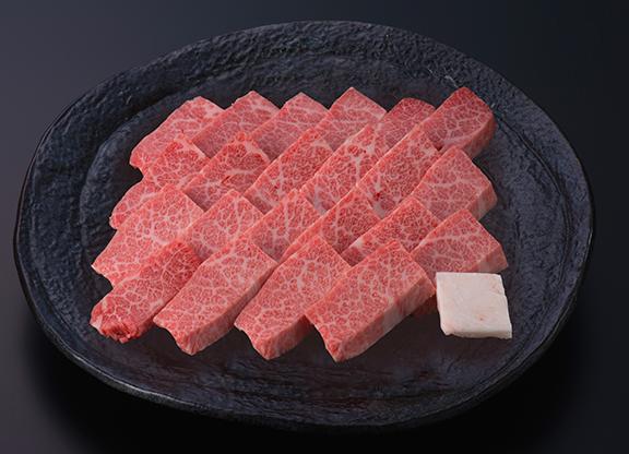 米沢牛霜降りカルビ焼肉用(肩三角) 500g 送料無料 化粧箱入