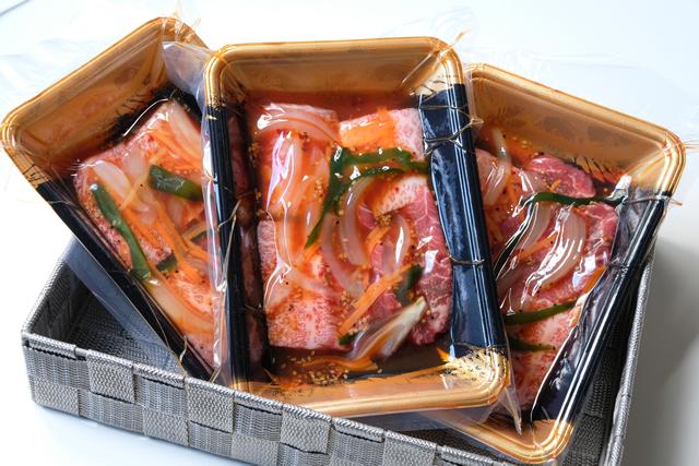 米沢牛味付けカルビ(甘辛たれ味)150g×3パック