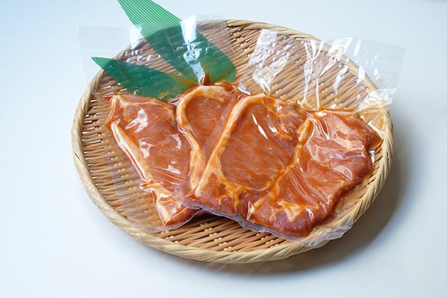 米澤豚一番育ちロース焼き肉用(みそたれ味)80g×2枚入り×2パック
