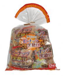 ピーナッツ黒糖豆 巾着12袋入