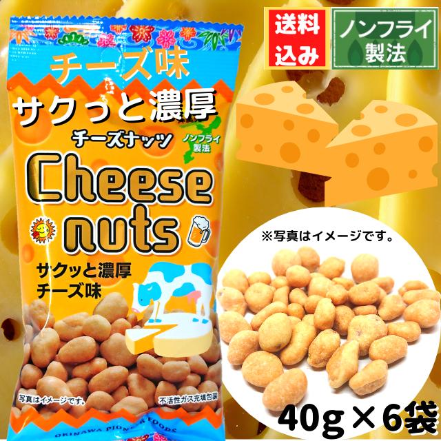 【送料込み】チーズナッツ 40g×6袋 メール便発送の為 日時指定・代金引換不可