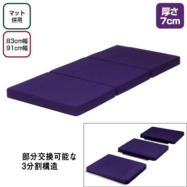 ピュアレックス防水・清拭タイプ 7cm厚【介護用品:床ずれマット】