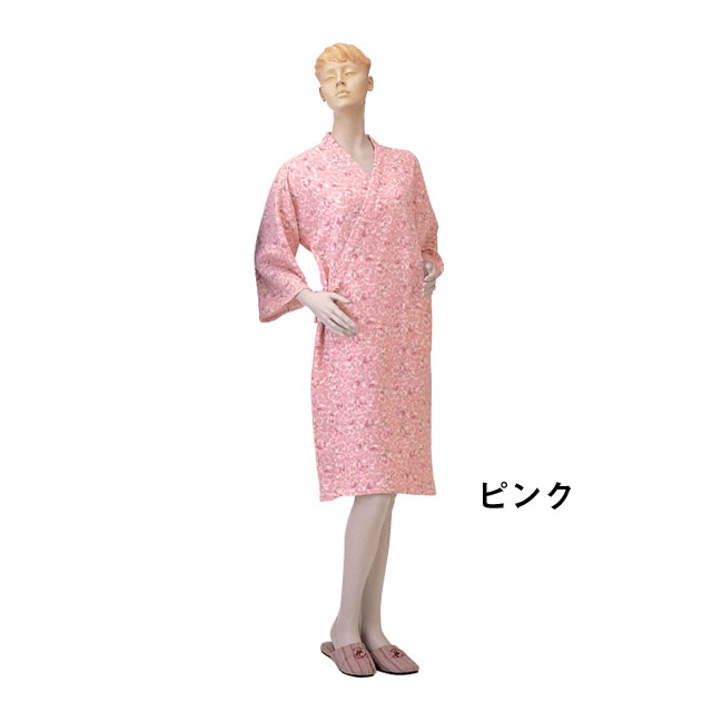 ガーゼ合わせ 秋冬用 婦人No.76【介護用品:ねまき】