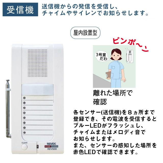 ワイヤレスチャイム&介護アシストシステム 8チャンネル受信チャイム&サイレン REV500【介護用品:安全管理機器】