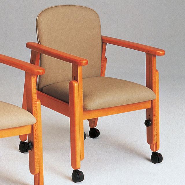 座・コンピス アクリル布張(キャスター付き) KAL103FC【介護用品:福祉用椅子】