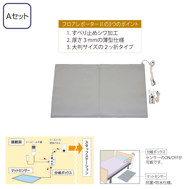 徘徊感知器(ナースコール連動) フロアレポーター2(分岐ボックス付) Aセット TK-5000-A