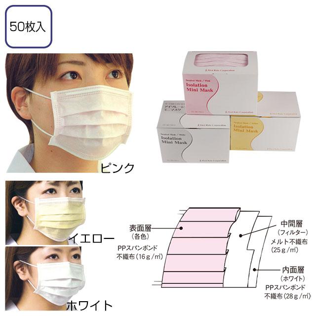 アイソレーション ミニマスク 50枚入【感染症・インフルエンザ対策】
