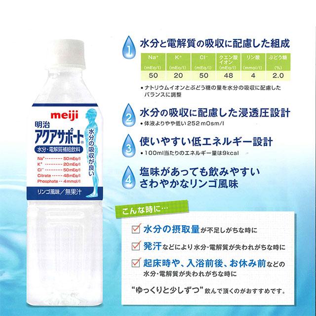 介護食【水分補給】 明治アクアサポート 500ml