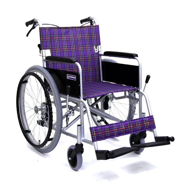 自走用アルミ車イス KA202SB 介助ブレーキ付