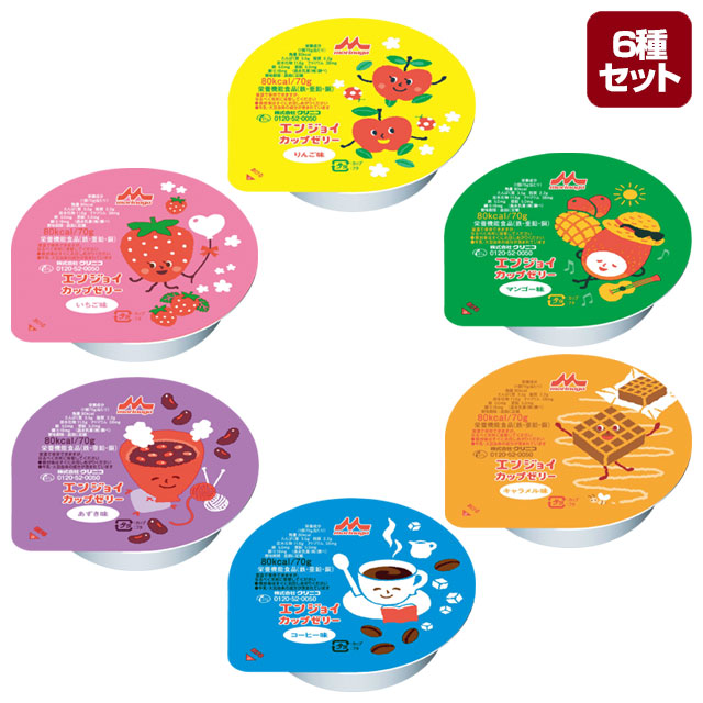 介護食【栄養補給】 エンジョイカップゼリー 6種×24セット