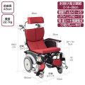 介助式車椅子 オアシスポジティブ介助式 OS-12TRSP ポリエステル赤(V-1)