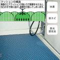 スーパーバイオマット(衝撃吸収タイプ) 1m×1m【介護用品:風呂マット】