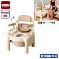 安寿ポータブルトイレ FX-CP 肘掛け跳ね上げ・脱臭・ソフト便座タイプ【介護用品:ポータブルトイレ】