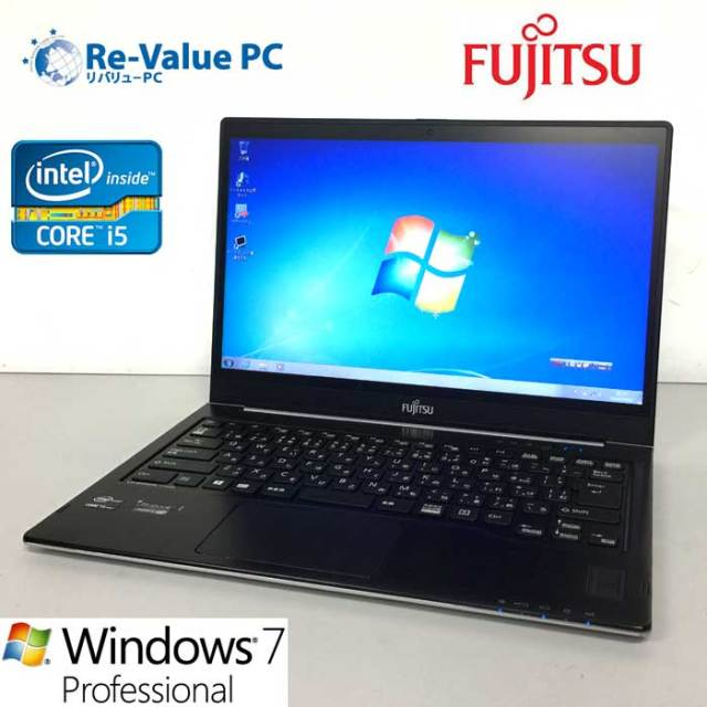 中古 富士通 LIFEBOOK U772/G Core I5-3437U 1.9GHz 8GB SSD128GB 14inch Windows7Pro UltraBook