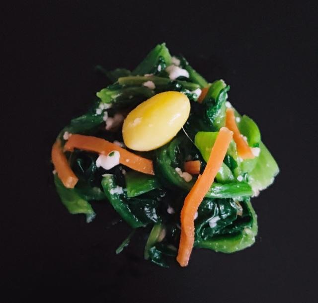 れん草 銀杏(塩麹風味)