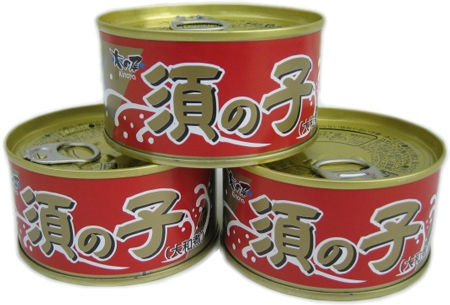 鯨 須の子 缶詰 大和煮3缶