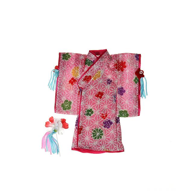 【11AC-FC0013B】オビツ11用 チビカグヤの羽織と髪飾りセット