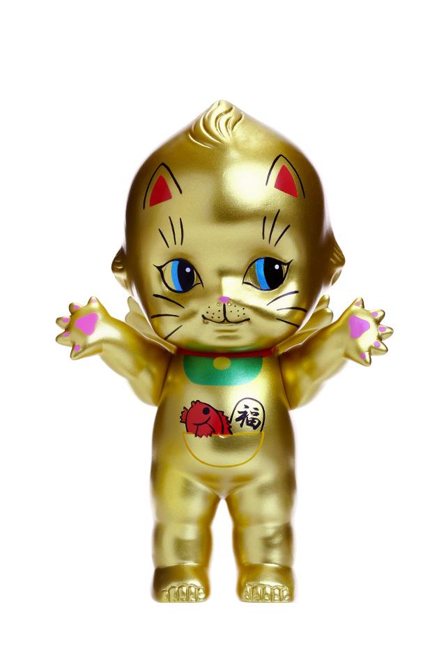 【KP150-MA-GD】オビツキューピー15cm招き猫 ゴールド