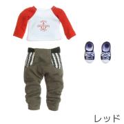 OBITSU11用 ラグランTシャツ/サルエルパンツセット