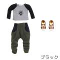 【11AC-FC014BK】[オビツショップ限定カラー]OBITSU11用 ラグランTシャツ/サルエルパンツセット ブラック