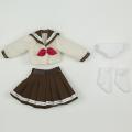 【11AC-FC001B】オビツ11用セーラー服セット ブラウン