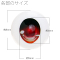 【EYOB-F08】尾櫃瞳(オビツアイ) Fタイプ 8mm
