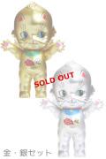 【KP150-MA-GDSL】オビツキューピー15cm招き猫 ゴールド&シルバーセット