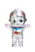 【KP150-MA-SL】オビツキューピー15cm招き猫 シルバー