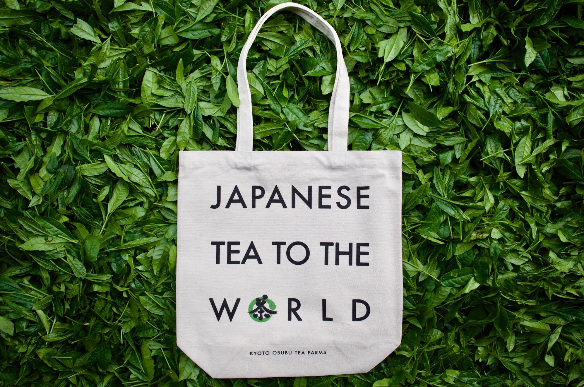 おぶぶオリジナル トートバック『Japanese Tea to the World』10L