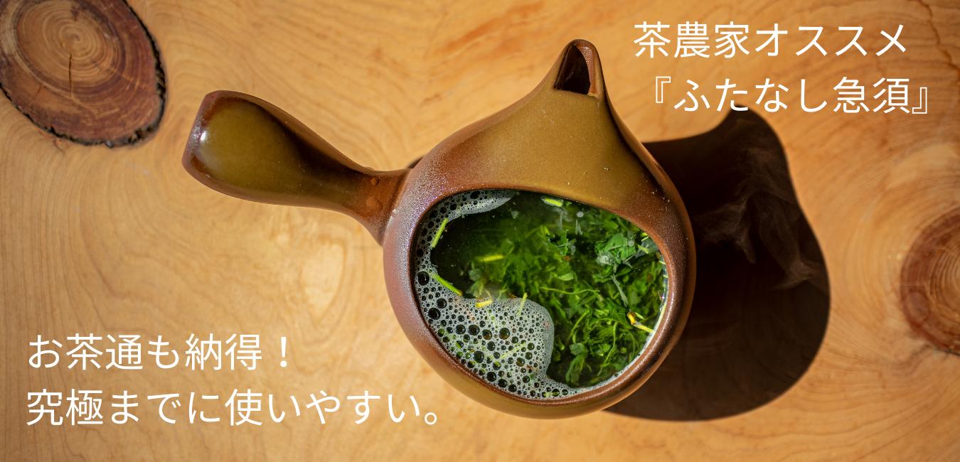 お茶通も納得!茶農家オススメ『ふたなし急須』灰釉(茶)