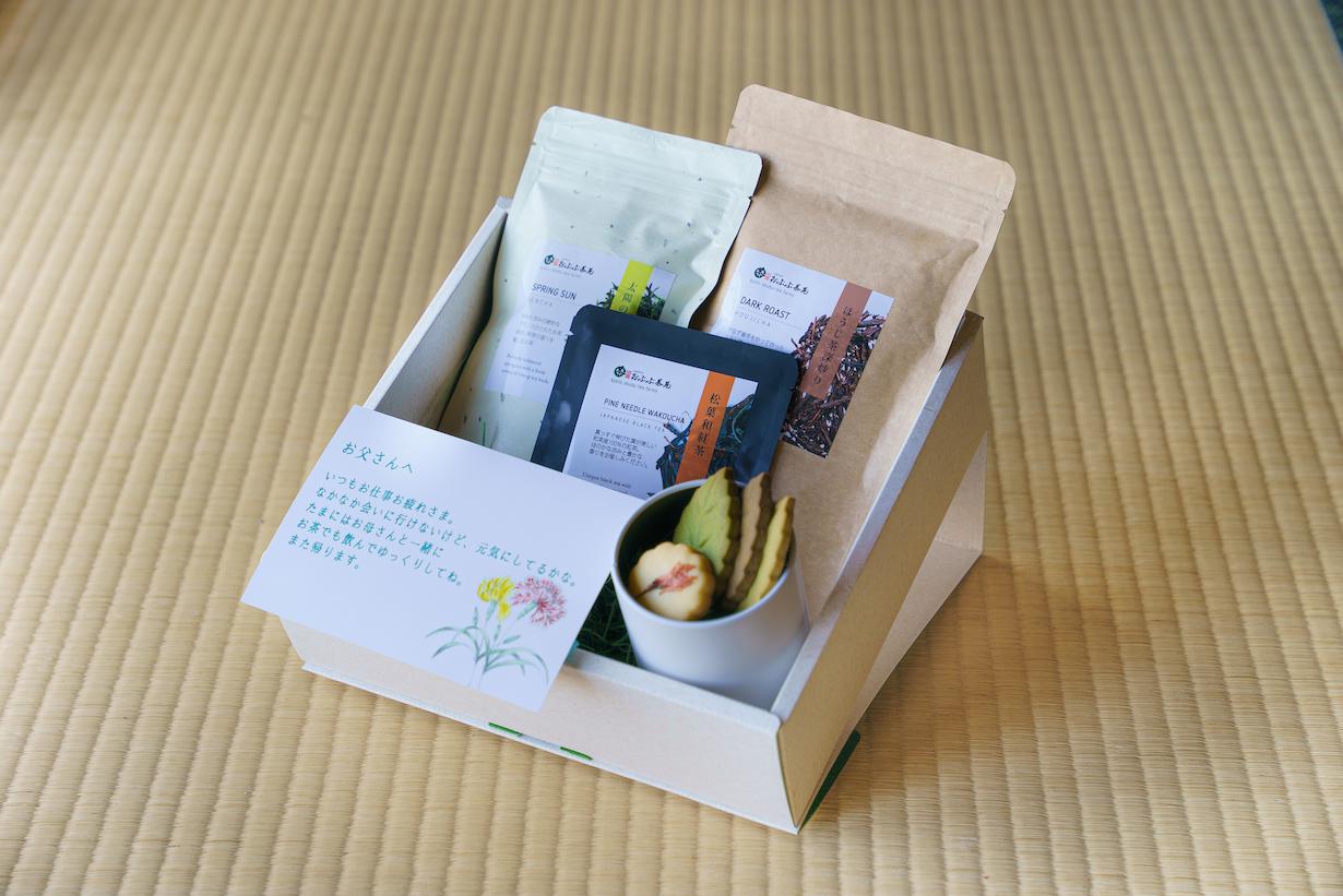 【父の日ギフト】お茶と洋菓子「温もり」メッセージカード付 ※税込送料無料!