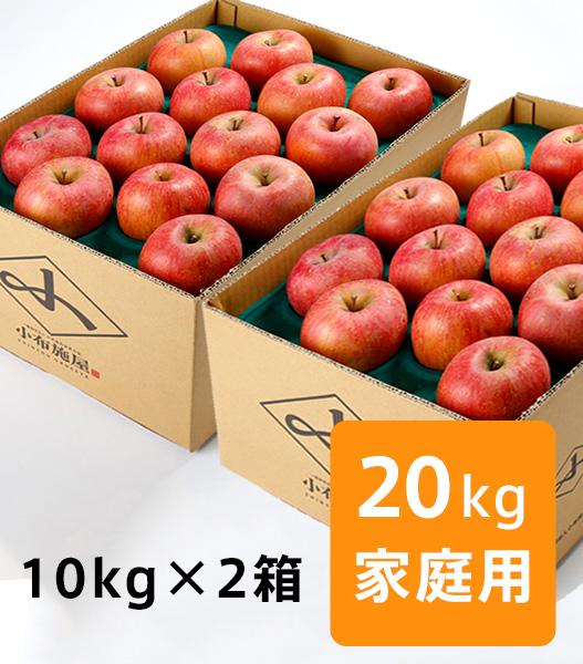【送料込】りんご サンふじ『風のいたずら』家庭用 20kg
